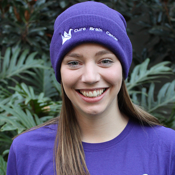 Purple Cure Brain Cancer Beanie